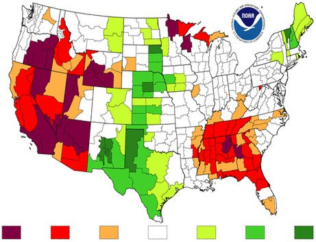 Water Shortages In The Ogallala Aquifer - Aquifer us map