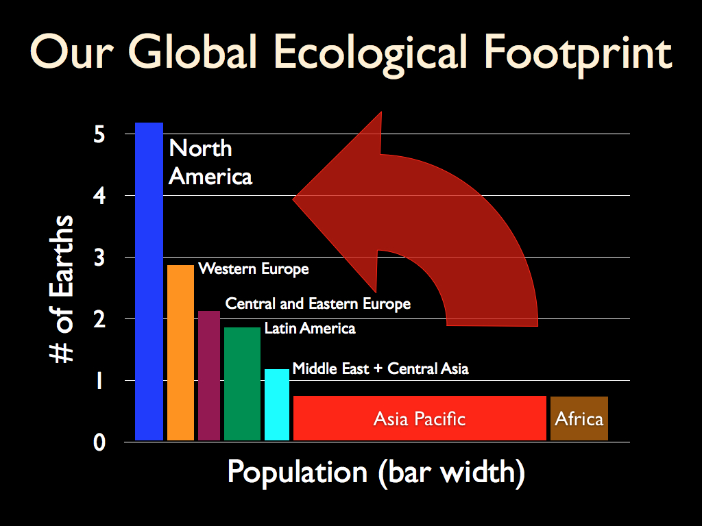 population growth global ecological footprint