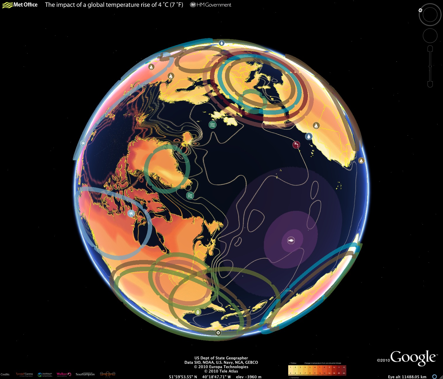 Interactive Climate Map from Google Shows Future Impact of Climate – Earth Interactive Map