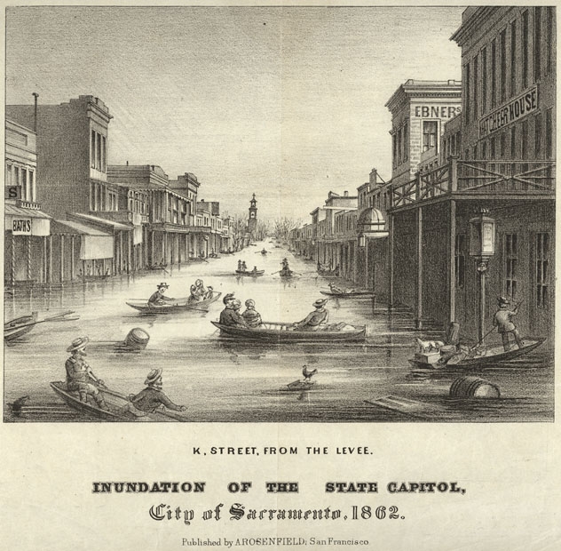 California storm of 1861