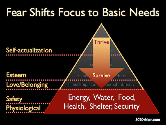 Maslow's hierarchy of needs - basic needs