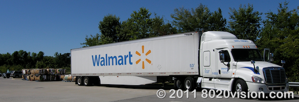 Walmart store green steps program, streamlined truck to reduce fuel consumption