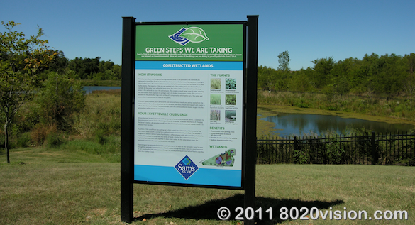 Walmart store green steps program, wetlands for catching run-off